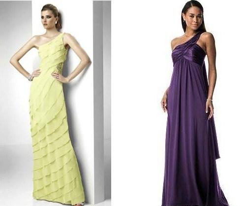 306580 vestido ombro unico para madrinhas Vestidos de madrinhas de casamento: Tendências 2012