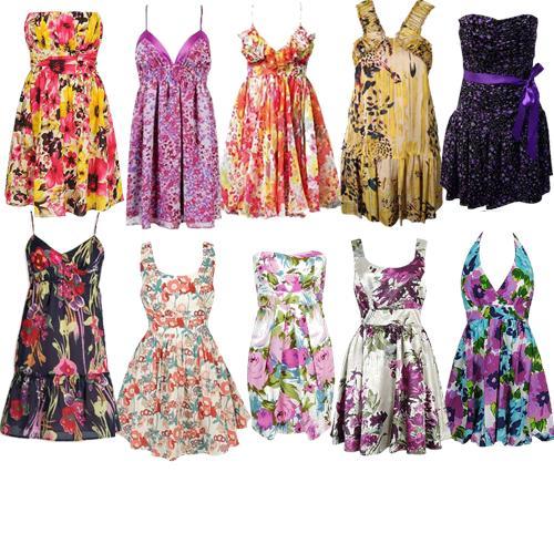 309030 vestidos floridos Moda primavera verão 2012 vestidos