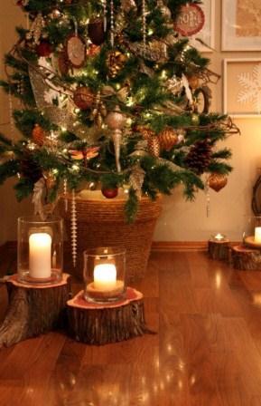 309615 árvore de natal com velas Ideias criativas para decorar uma árvore de Natal