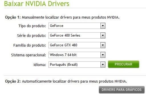 310608 DriversNVIDIA im1 Atualize o driver da sua placa de vídeo da NVIDIA