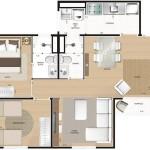 31111 planta de casa moderna 16 150x150 Planta de casas modernas