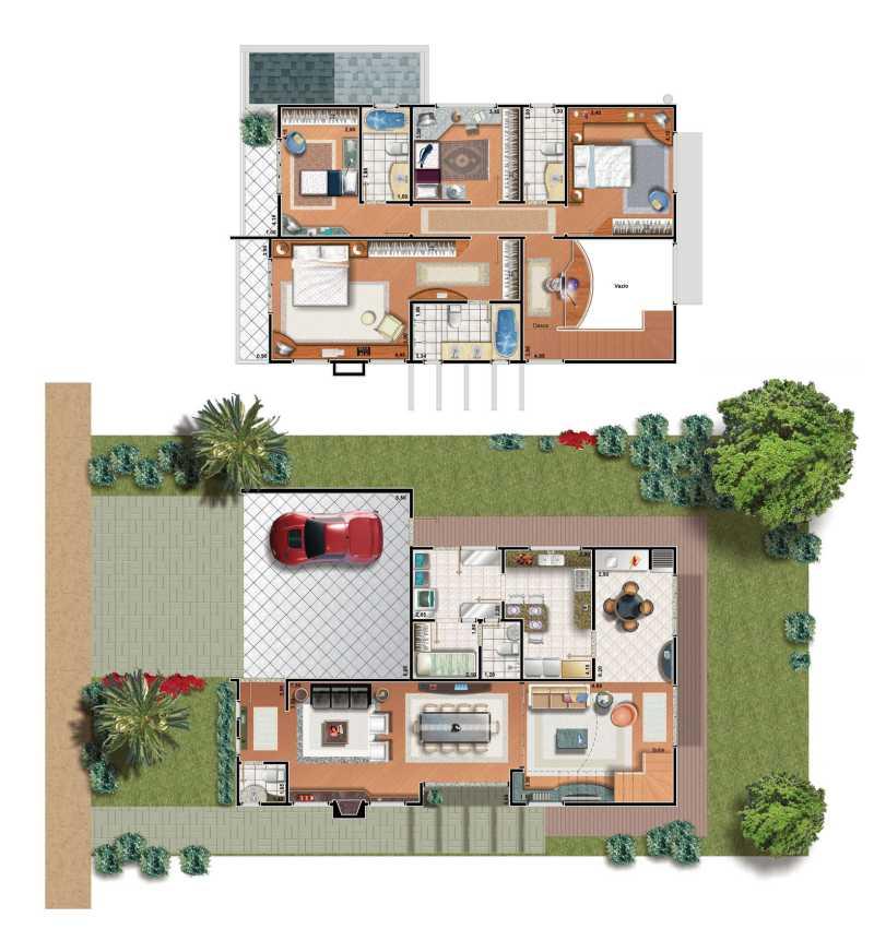 Planta de casas modernas for Plantas de viviendas modernas