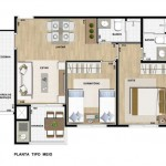 31111 planta moderna 18 150x150 Planta de casas modernas