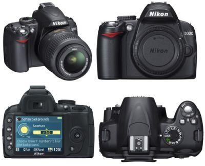 311509 Câmera Digital Nikon DSLR D3000 Melhores máquinas fotográficas semi profissionais