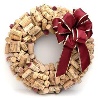 316017 guirlanda de natal de rolhas Guirlandas de Natal: técnicas artesanais para confeccionar