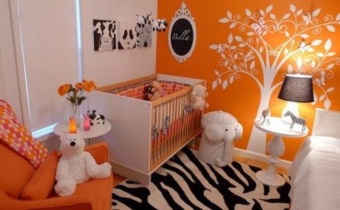 317160 quarto bebe laranja Sugestões para escolher a cor de parede da sua casa