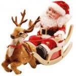 318663 Papai Noel Animado Treno com Rena 150x150 Enfeites para deixar a casa em clima de natal