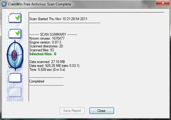 319903 winClam antiVirus im11 Baixe um antivírus que roda direto do pendrive