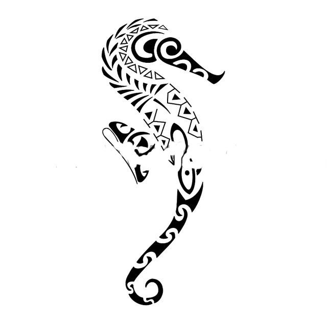 319956 cavalo marinho Tatuagem maori: significado, fotos