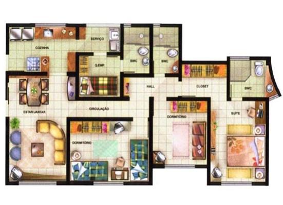32127 Plantas de casas residenciais 1 Plantas de casas residenciais