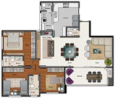 32127 Plantas de casas residenciais 2 Plantas de casas residenciais