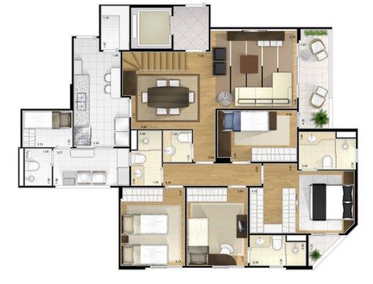 32127 Plantas de casas residenciais 3 Plantas de casas residenciais