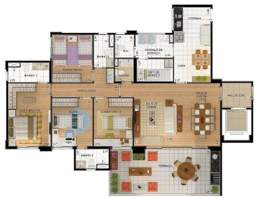32127 Plantas de casas residenciais 4 Plantas de casas residenciais