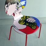322880 cadeira pop art 150x150 Cadeiras diferentes para decorar: modelos