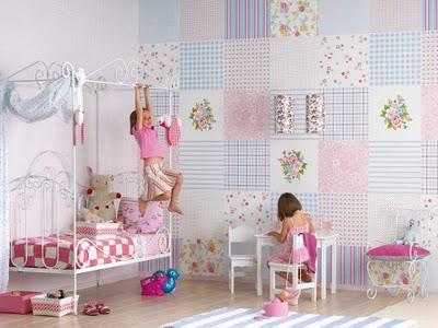325357 Patchwork na parede Decoração de casa com patchwork