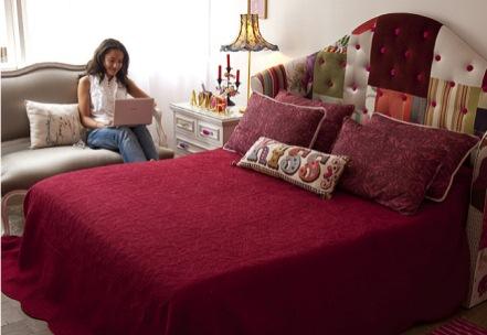 325357 cabeceira da cama Decoração de casa com patchwork