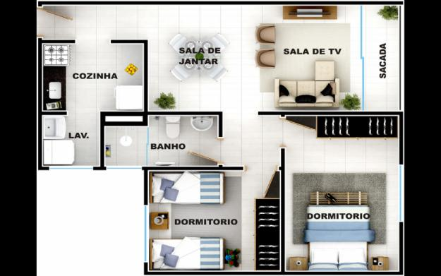 32608 Planta de casas simples 02 Planta de casas simples