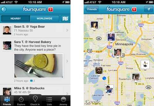 327080 Foursquareim2 Foursquare para iPhone e Android