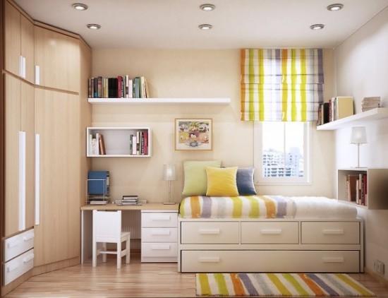 327231 quarto pequo soluções Ideias de decoração para quartos pequenos