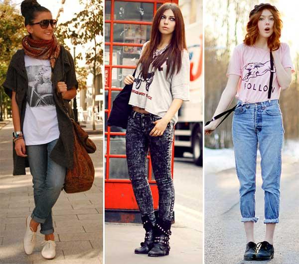 328450 jeans Camisetas   Looks e Truques
