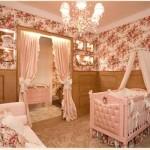 329466 Decoração Quarto de Bebês e Crianças Com Adesivos de Paredes Pintura e Tecido provençal 150x150 Decoração com tecido na parede