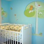 329466 quarto de bebe com parede decorada1 150x150 Decoração com tecido na parede