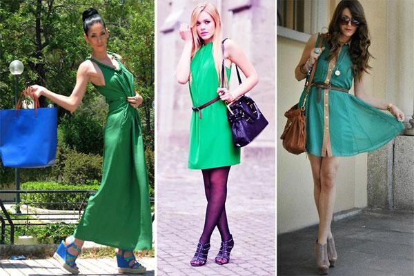 330786 vestido Verde Esmeralda – Tendência para o Verão 2012