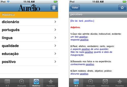 331799 Dicion%C3%A1rio aur%C3%A9lio Iphone1 Baixe o dicionário Aurélio para iPhone