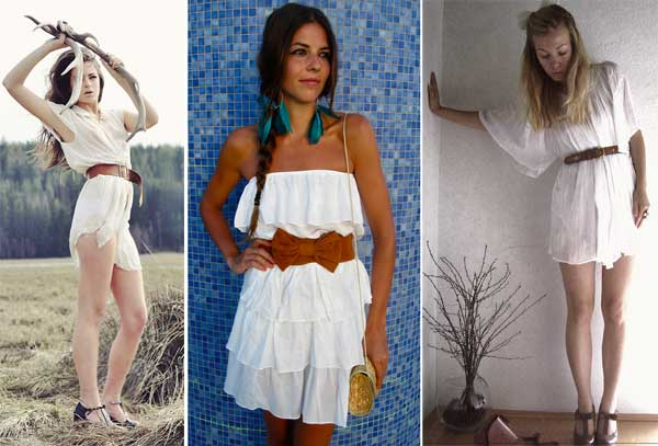 333482 cinto Vestidos Brancos para o Réveillon 2012