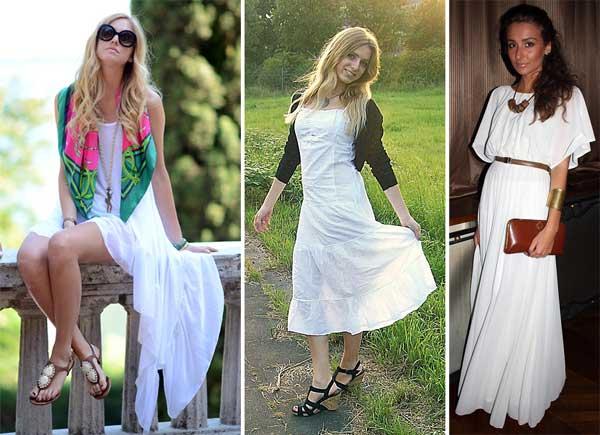 333482 longo Vestidos Brancos para o Réveillon 2012