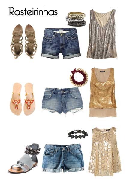 334238 short jeans Réveillon: Looks com Rasteirinhas