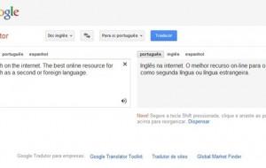 Você sabe utilizar o tradutor do Google?