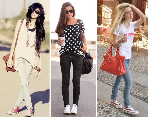 338824 cal%C3%A7a jeans Looks com All Star