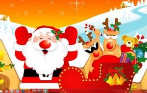 Enfeite a sua Área de trabalho para o Natal