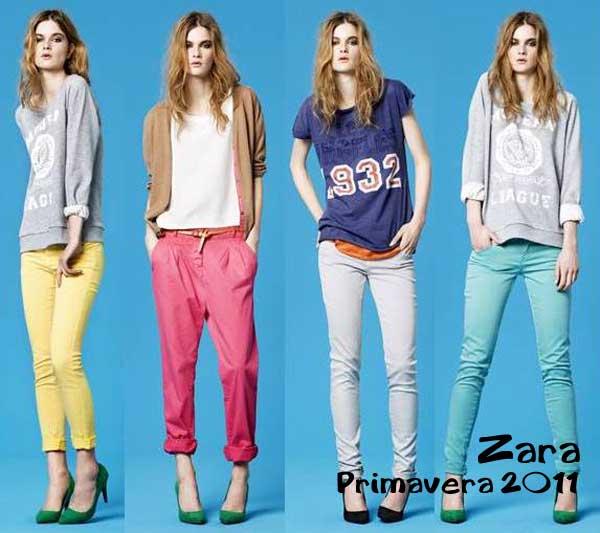 340303 zara spring 2011 new color pants lookbook Calça Colorida: Tendência para o verão 2012