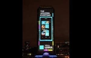 Nokia transforma prédio de 120m em anúncio gigante em 4D; veja vídeo