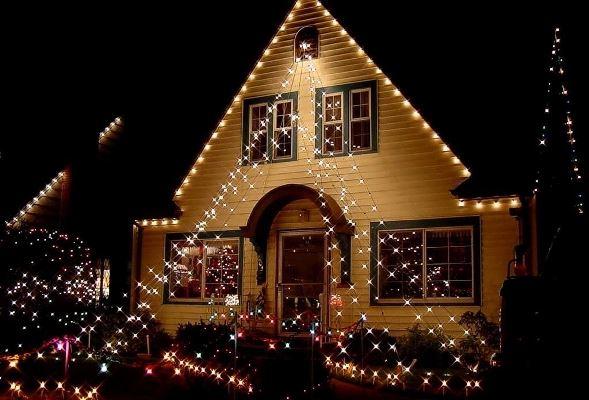 Fotos casas decoradas com luzes natal - Casas decoradas en navidad ...