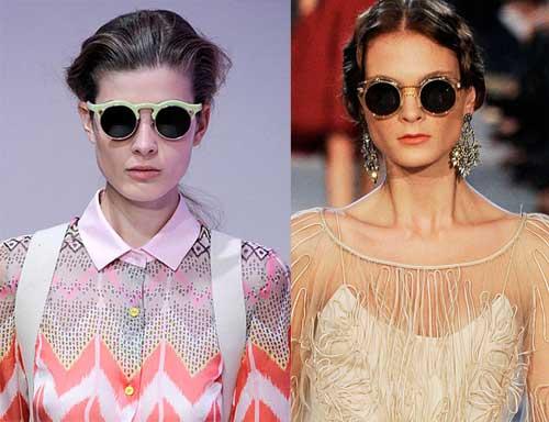 342623 carven zac redondos Óculos Redondos: Tendência para o verão 2012