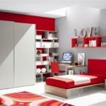 345635 quartovermelho 150x150 Decoração para quartos de adolescente   fotos