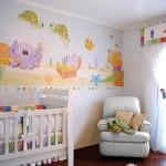 345783 decoração de quarto de bebe com papel de parede 150x150 Decoração para quartos de bebê   fotos