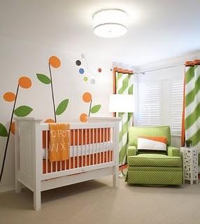 quarto bebe verde laranja imagens 150x150 Decoração para quartos de