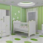 345783 quarto de bebe decorado verde 2 150x150 Decoração para quartos de bebê   fotos