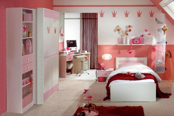 345878 15 Cool Ideas for pink girls bedrooms 8 554x369 Decoração para quartos de criança   fotos