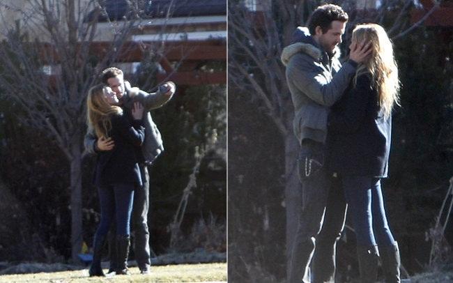 346498 ryan 1 Ryan Reynolds e Blake Lively são flagrados aos beijos