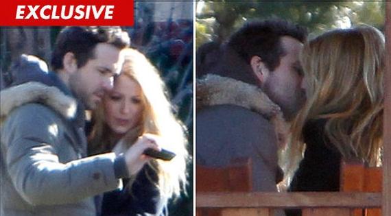 346498 ryan Ryan Reynolds e Blake Lively são flagrados aos beijos