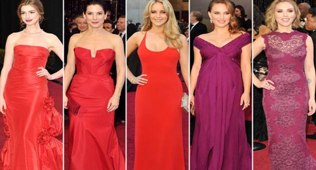 348495 Vestidos com cores quentes no Oscar Vestidos de festa das celebridades   fotos