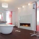351622 Projeto de Banheiro com Divisórias e Luminárias de Vidro 578x400 150x150 Decoração de banheiros   fotos
