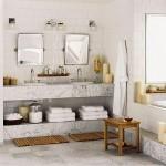 351622 Projeto de Banheiro em Mármore Vidro e Alumínio 150x150 Decoração de banheiros   fotos