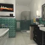 351622 banheiros decorados com pastilhas 150x150 Decoração de banheiros   fotos