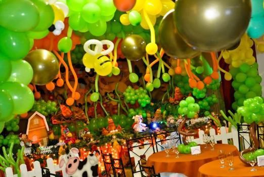 Decora    O 5 Festa Infantil   Tema Fazendinha  Decora    O